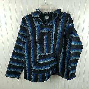 Vintage Art Mad poncho hoodie made in Mexico As M